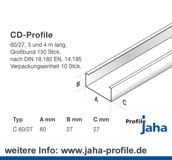 Profile für trockenbau